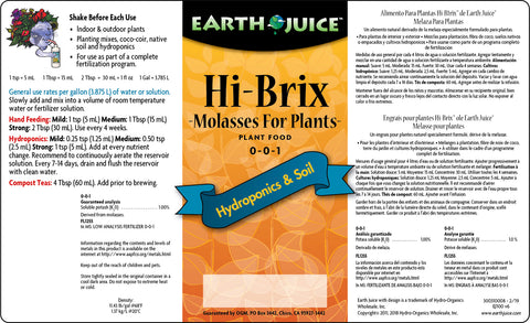 Earth Juice Hi- Brix Molasses 1 quart