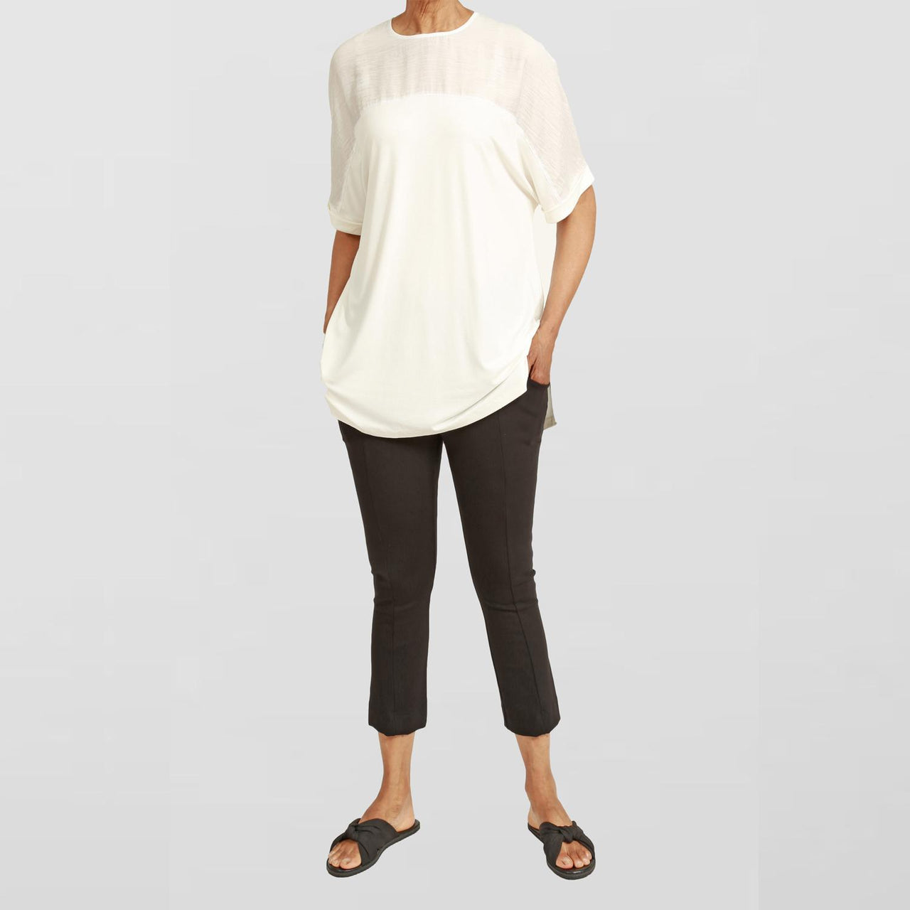 ROYCE COLLECTIVE TUNIC - EGGSHELL