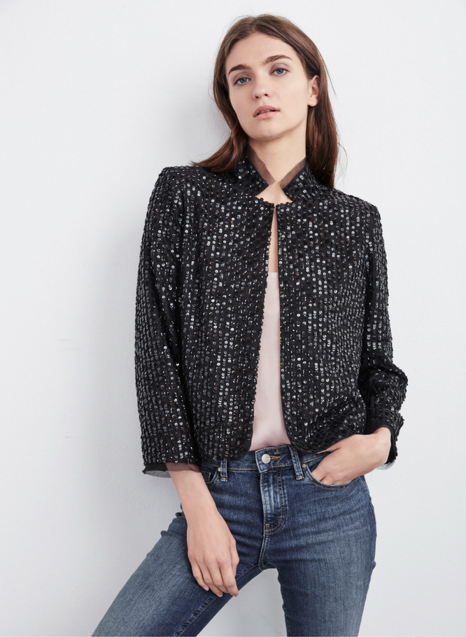 Velvet Razi Sequin Jacket