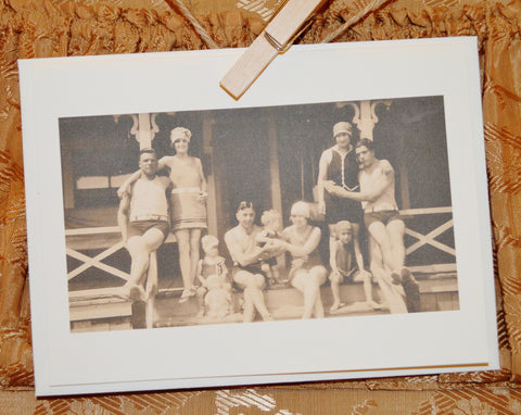 """1920's Family"" Greeting Card"