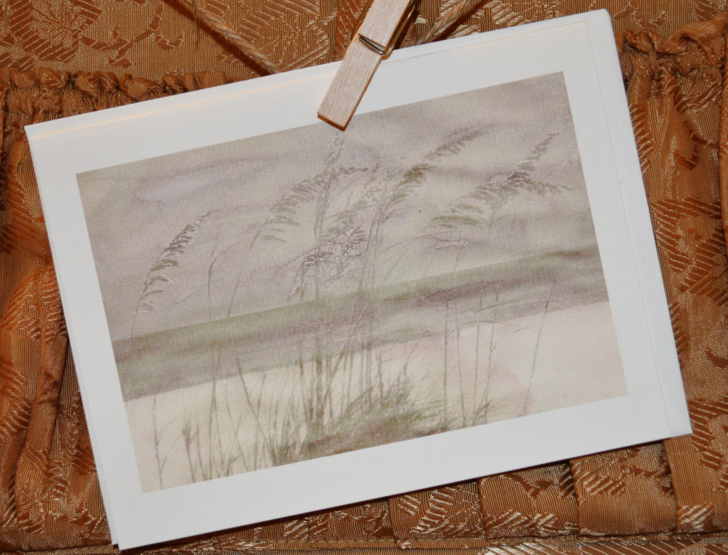 """Sea Oats"" Greeting Card"