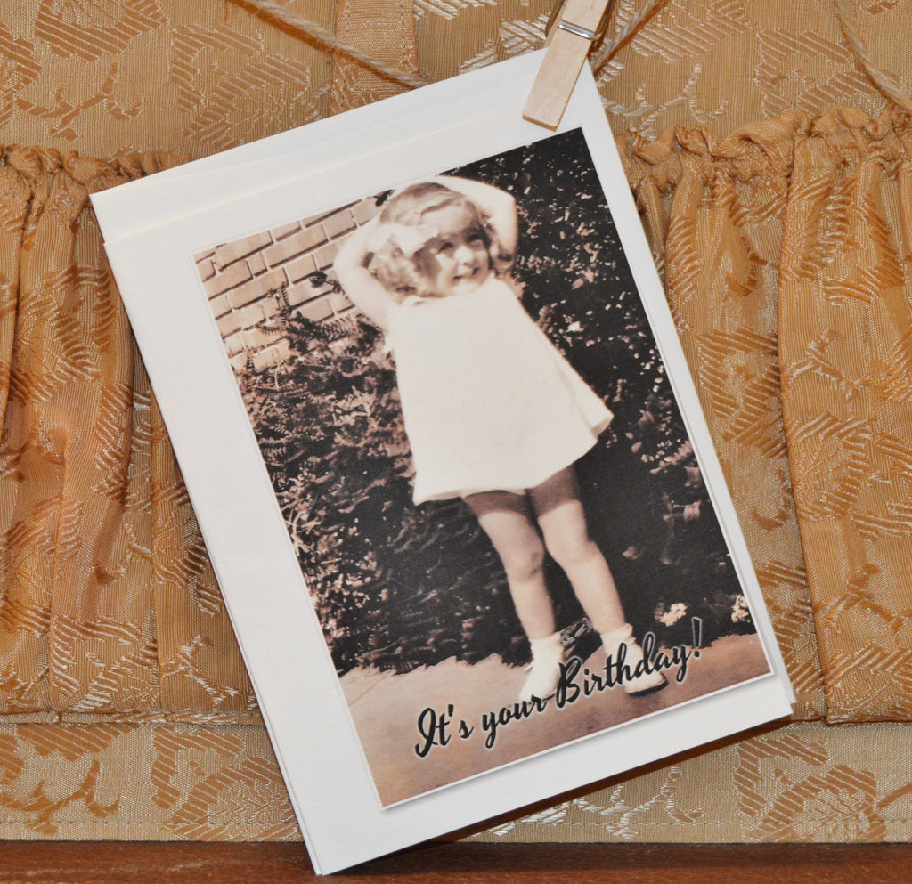 """Vintage Birthday Cheer"" Greeting Card"