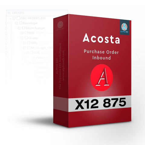 Acosta 875 - Purchase Order Inbound for Infor VISUAL