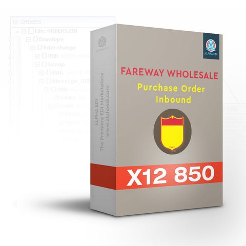 Fareway Wholesale 850 Inbound Pack for Infor VISUAL