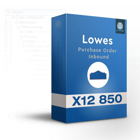 Lowes 850 - Purchase Order Inbound for Infor VISUAL