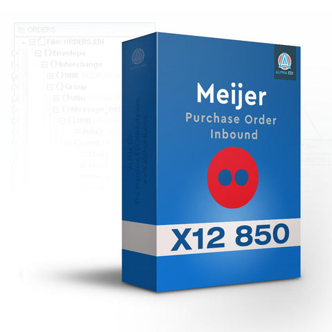 Meijer 850 - Purchase Order Inbound for Infor VISUAL