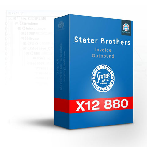 Stater Bros 880 - Invoice Outbound for Infor VISUAL