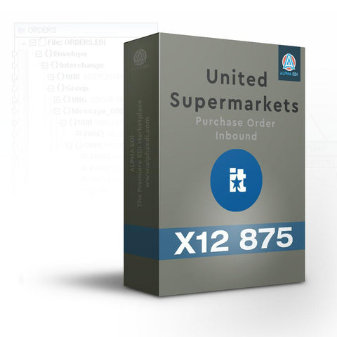 United Supermarkets 875 - Purchase Order Inbound for Infor VISUAL