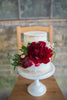 garden bright wedding florals and cake