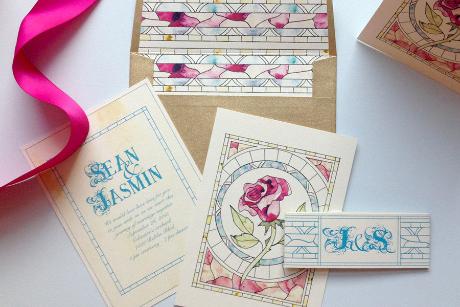 Stained Glass Invites