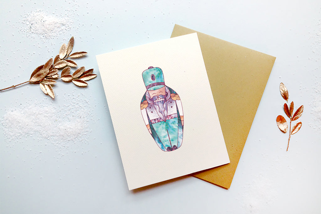 Nutcracker Doll Card