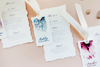 Soft + Pop Menus and Place Cards