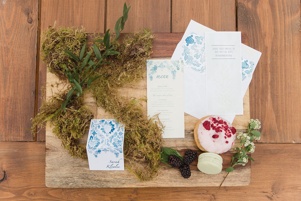 Wallflower Place Cards and Menus