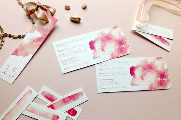 Cotton Candy Place Cards and Menus