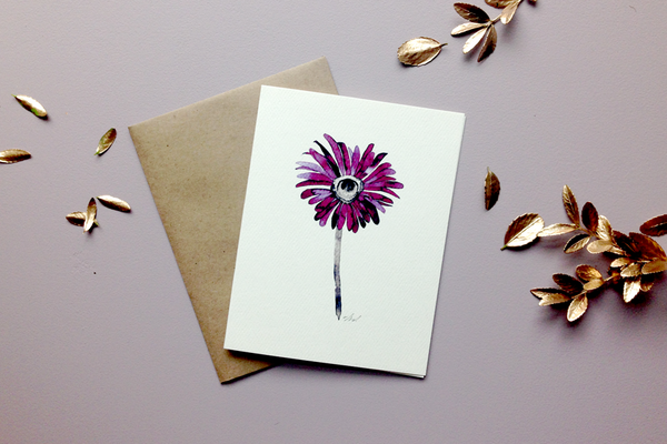 daisy greeting card from Keeks Paper Co. in Winnipeg Canada