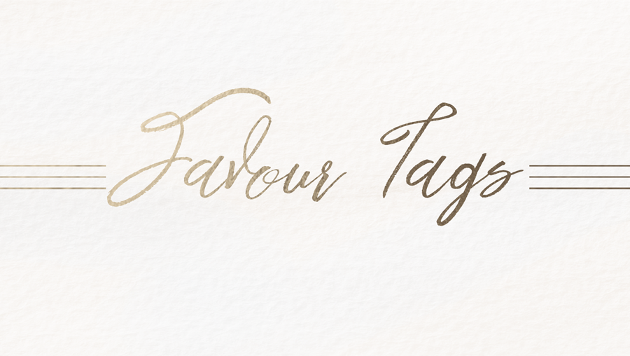 SEMI-CUSTOM FAVOUR TAGS