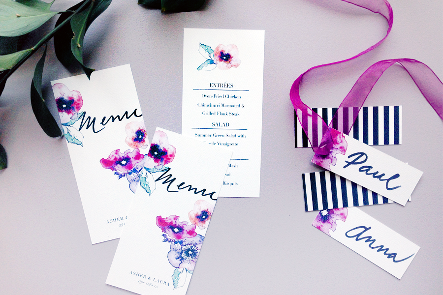Lush Garden Place Cards and Menus