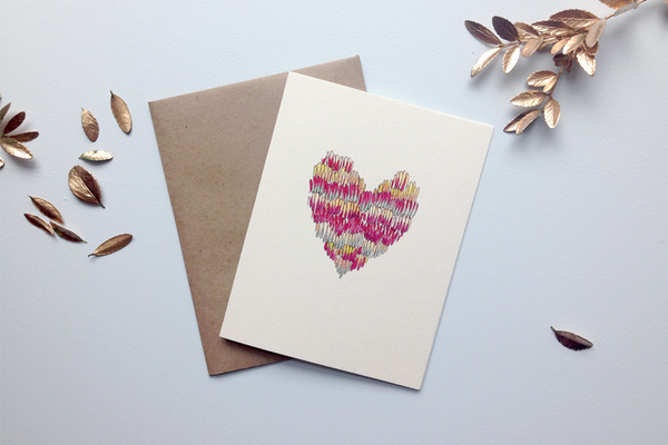 squiggle heart card