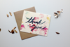watercolour thank you greeting card from Keeks paper co in Winnipeg