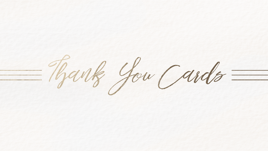 SEMI-CUSTOM THANK YOU CARDS