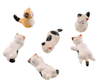 Image of 1 Set 6 Pieces Japanese Ceramic Cat Shape Tableware Holders