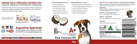 Augustine Approved Raw Coconut Oil