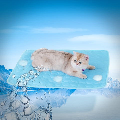 Self cooling dog mat, Large Pet Cool Mat Non-Toxic Activated Gel Cooling Pad Pet Ice Mat, Great for Dogs Cats to Stay Cool this