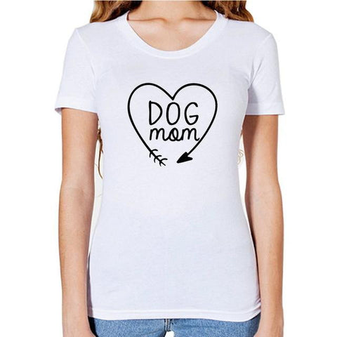 Dog Mom Heart T-Shirt For Women