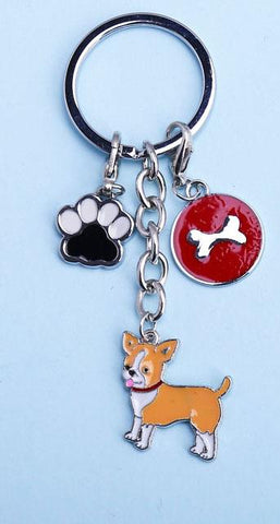 Lobster Clasp Dog Chihuahua Keychain