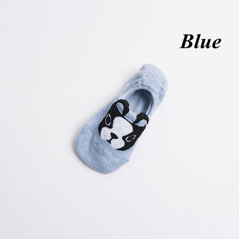 1Pair Girls Cute Dog Ankle Low Cut Crew Socks