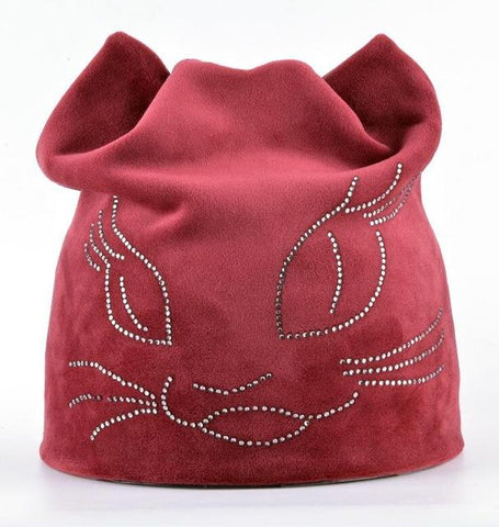 Polyester Cute Beanie Cat Hat