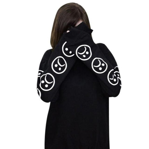 Sad Faces Emoticon T shirt For Women