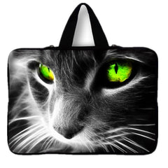 Green-eyed Cat Smart Sleeve Case for Laptops/Tablets