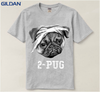 Image of 2-Pug T-Shirt for Men