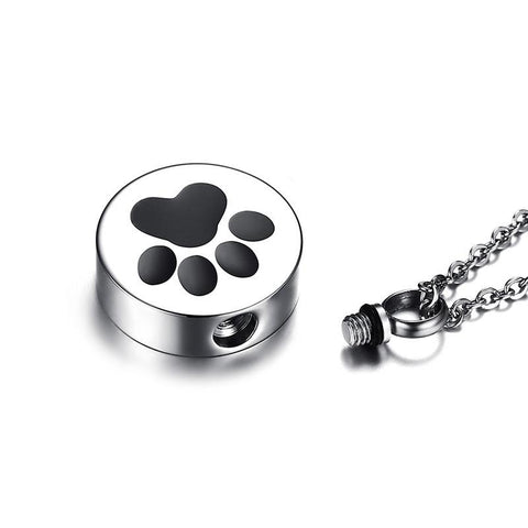 Vnox Openable Dog Cat Paw Pendant Necklace for Women