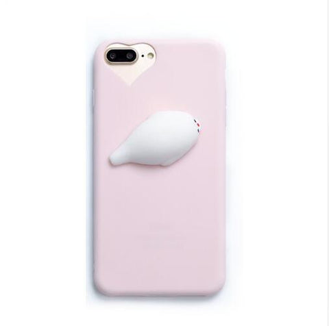 3D Squishy Seal Back Phone Case For Samsung