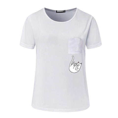 Cat Print T-shirt for Women