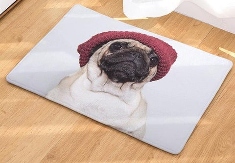 Anti-Slip Polyester Living Room Kitchen Bath Mat