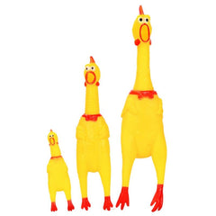 Screaming Chicken  Rubber Dog Toy Fun Novelty