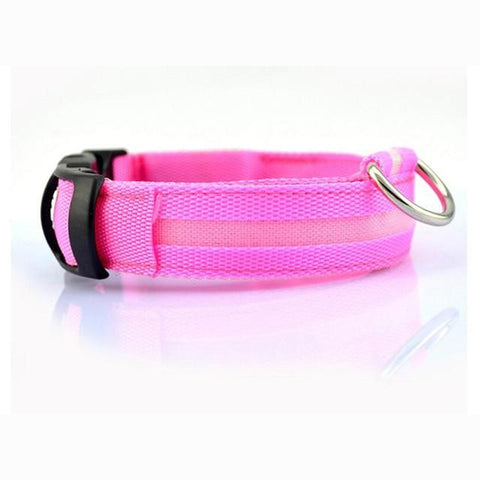 Nylon LED Pet Dog Collar Adjustable Luminous Night Safety