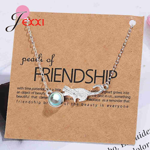 Elegant 925 Sterling Silver Cat&Ball Shape Pendant Necklace for Women