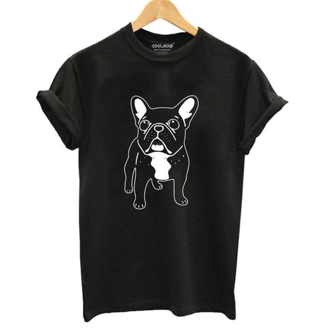 French Bulldog Print T-shirt for Women