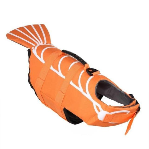 Dog Life Jacket Pet Saver Life Vest Puppy Swimming Preserver Shark Shape Large Dog Clothes For Golden Retriever Pet Supplies