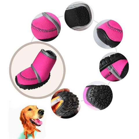 Fashion Solid Candy color Waterproof Four - sided Elastic Dogs Shoes Chic Cute Style Puppy Shoes