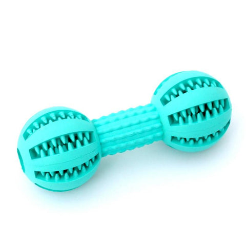 Pet Dog Chew Toys Rubber Dumbbell Bone