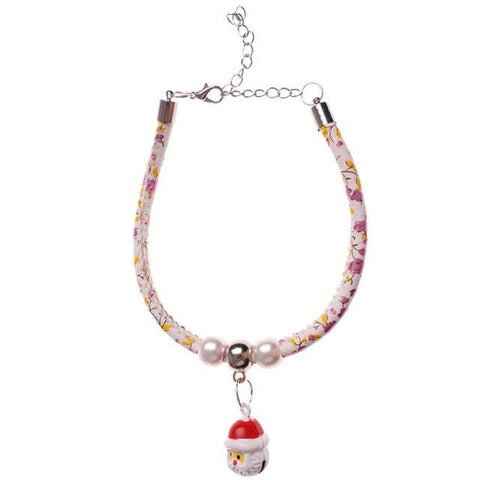 Christmas Santa Claus Bells Dog Cat  Necklace