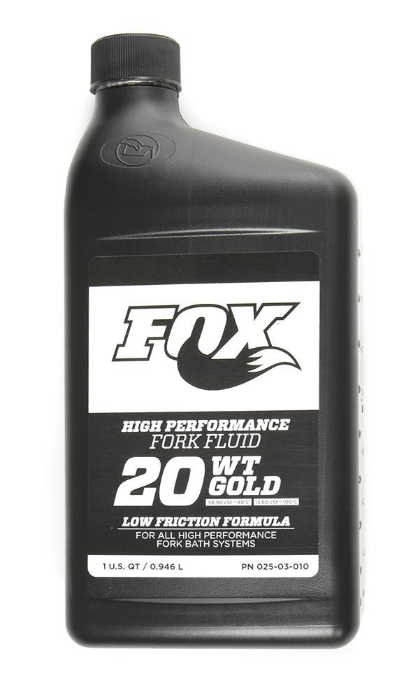 Oil: AM, FOX Bath Oil [32 oz.], 20 WT Gold