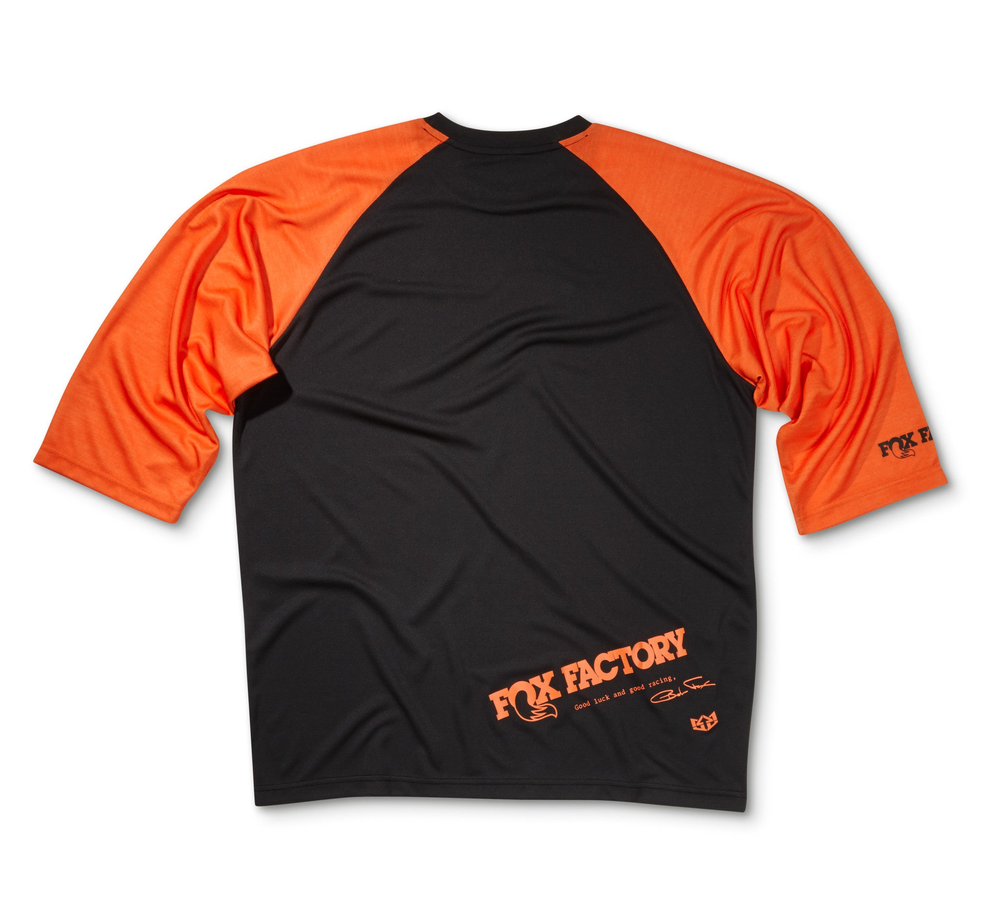FOX Heritage 3/4 Raglan Jersey, Black/Orange