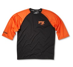 2016, FOX Heritage 3/4 Raglan Jersey, Black/Orange