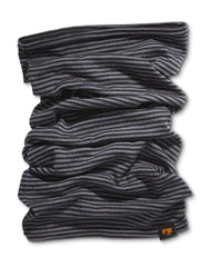 NEW - Wool Neck Buff, Black/Gray, O/S